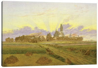 Dawn at Neubrandenburg  Canvas Art Print