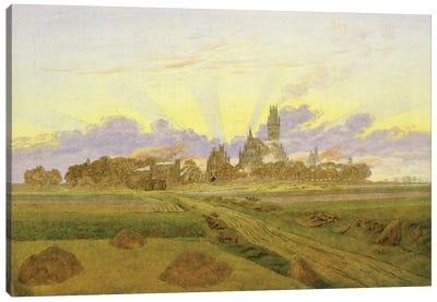 Dawn at Neubrandenburg  Canvas Art Print
