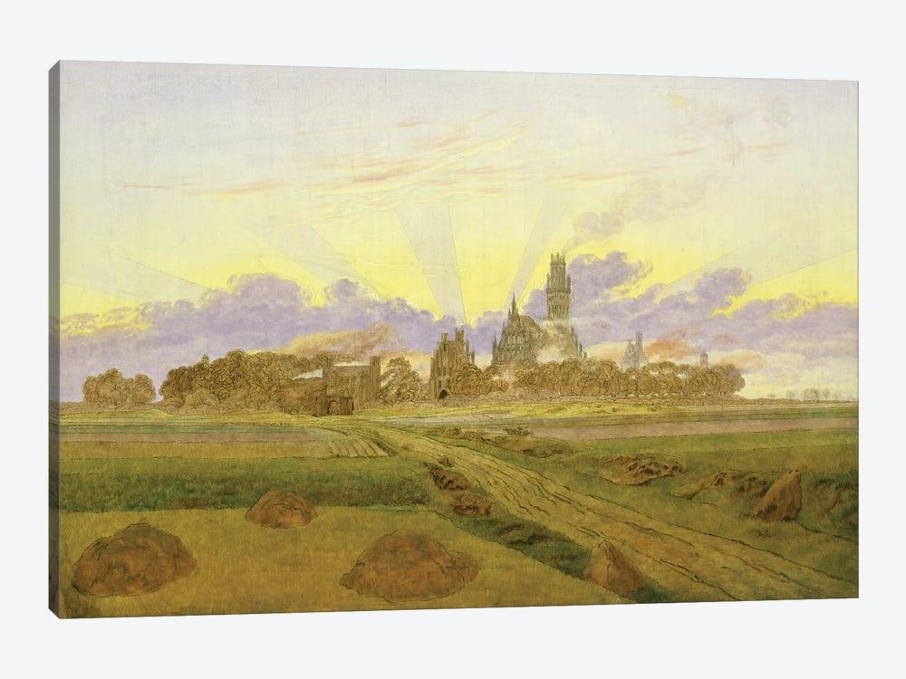 Dawn at Neubrandenburg  by Caspar David Friedrich 1-piece Canvas Wall Art