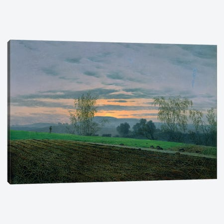 Ploughed Field, c.1830  Canvas Print #BMN1889} by Caspar David Friedrich Canvas Art