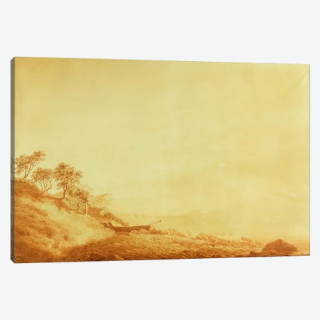 Looking towards Arkona at sunrise, 1801  Canvas Print #BMN1890} by Caspar David Friedrich Canvas Print