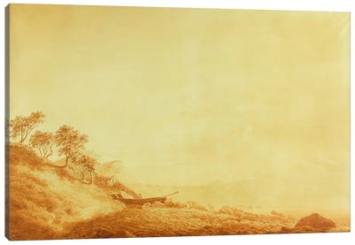 Looking towards Arkona at sunrise, 1801 by Caspar David Friedrich Canvas Print