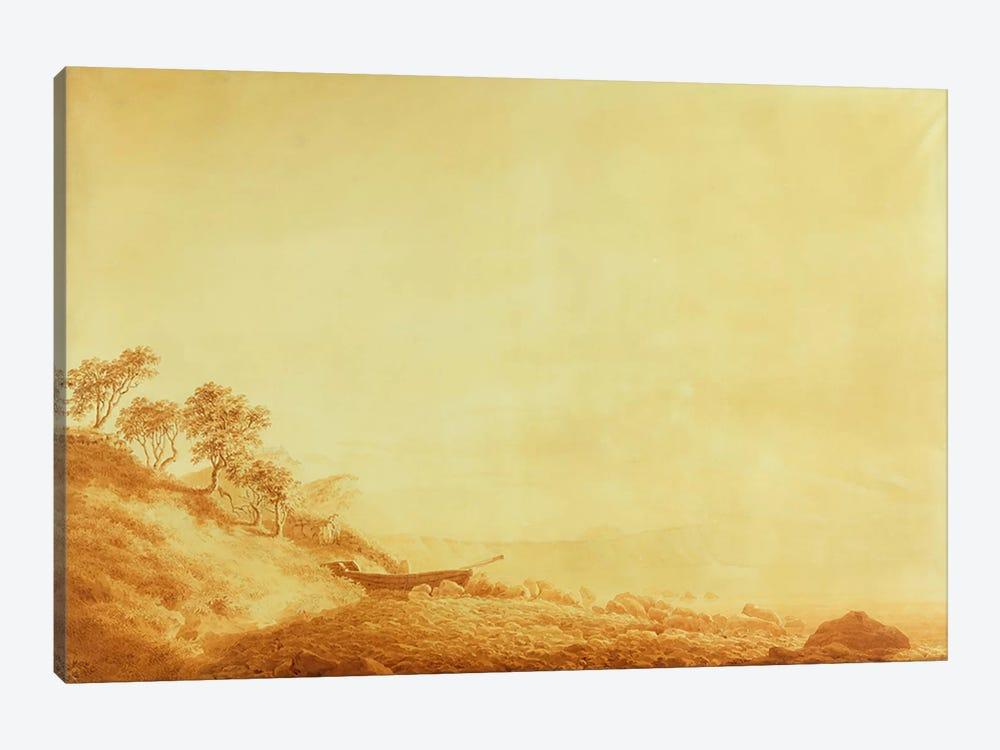 Looking towards Arkona at sunrise, 1801  by Caspar David Friedrich 1-piece Canvas Print