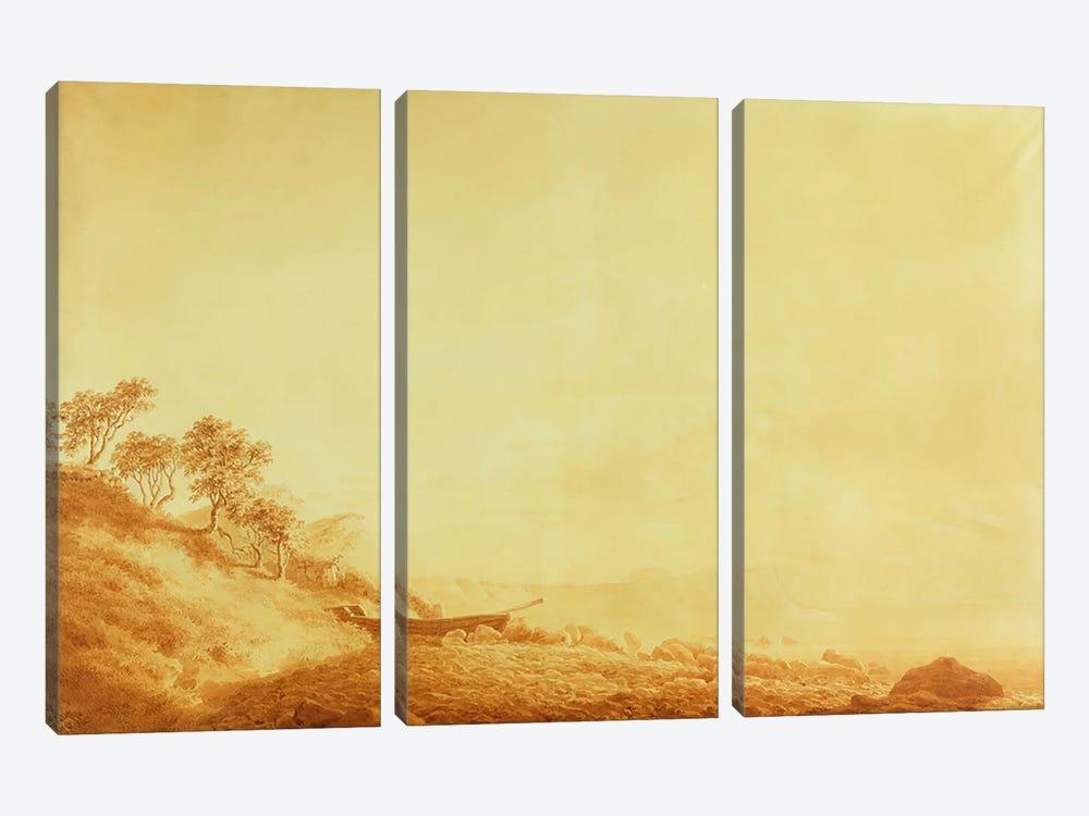 Looking towards Arkona at sunrise, 1801  by Caspar David Friedrich 3-piece Art Print