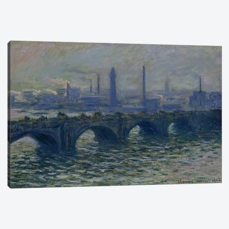 Waterloo Bridge, 1902  Canvas Print #BMN1891} by Claude Monet Art Print