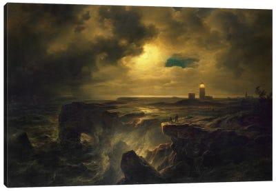 Helgoland in Moonlight, 1851  Canvas Art Print