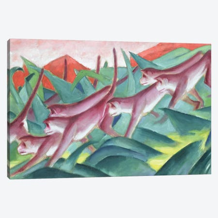 Monkey Frieze, 1911  Canvas Print #BMN1894} by Franz Marc Canvas Art