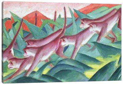 Monkey Frieze, 1911  Canvas Art Print