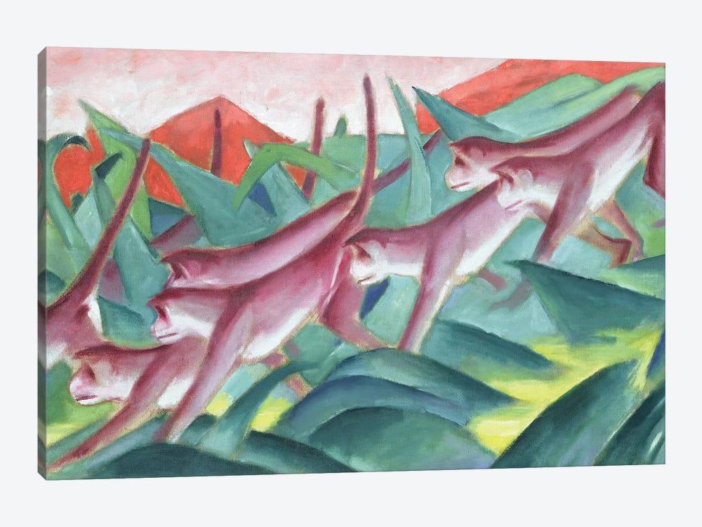 Monkey Frieze, 1911  by Franz Marc 1-piece Art Print