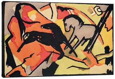 Two Horses, 1911/12  Canvas Art Print
