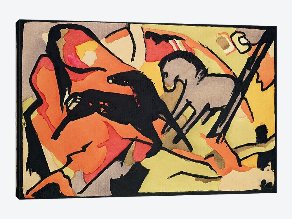 Two Horses, 1911/12  by Franz Marc 1-piece Canvas Art