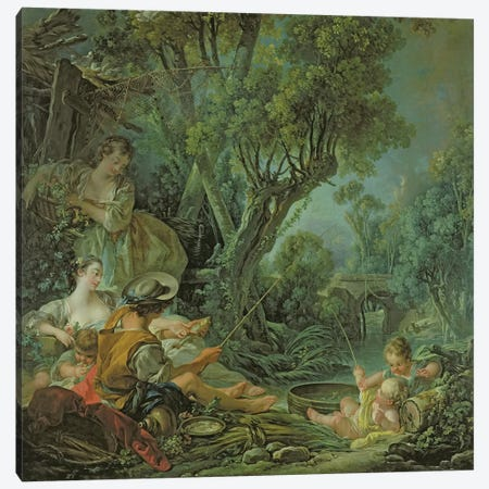 The Angler, 1759  Canvas Print #BMN1896} by Francois Boucher Canvas Wall Art