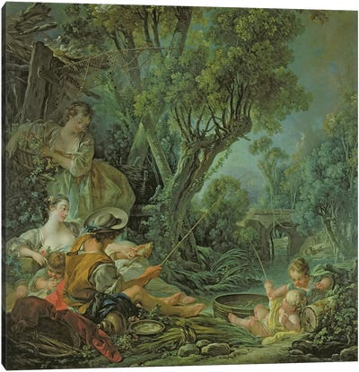 The Angler, 1759  Canvas Art Print