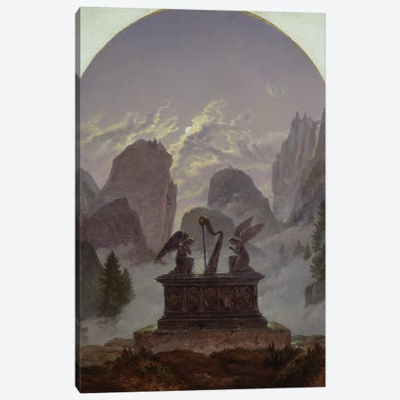Goethe Monument  Canvas Print #BMN1897} by Karl Gustav Carus Canvas Art