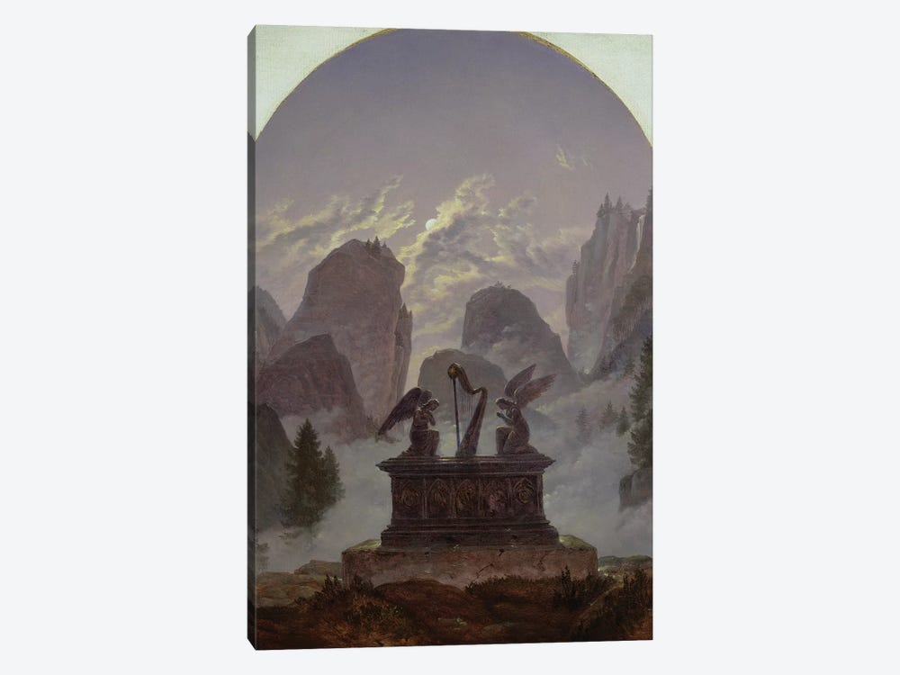 Goethe Monument  by Karl Gustav Carus 1-piece Canvas Wall Art