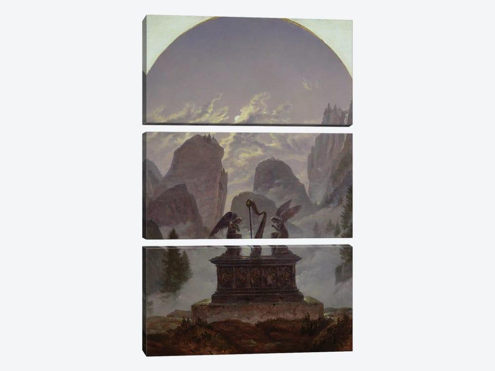 Goethe Monument  by Karl Gustav Carus 3-piece Canvas Artwork