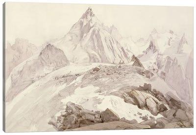 Aiguilles de Chamonix, c.1850  Canvas Art Print