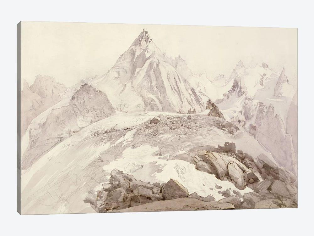 Aiguilles de Chamonix, c.1850  by John Ruskin 1-piece Canvas Wall Art
