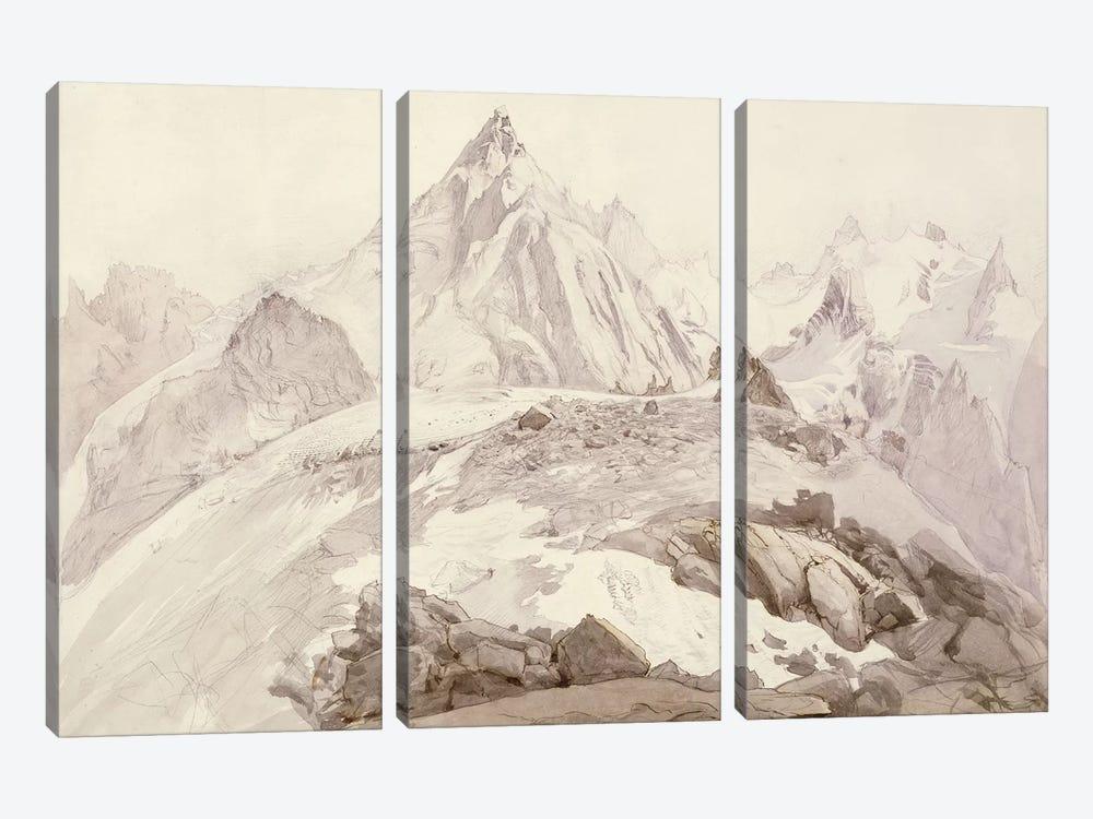 Aiguilles de Chamonix, c.1850  by John Ruskin 3-piece Canvas Art