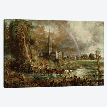 Salisbury Cathedral From the Meadows, 1831   Canvas Print #BMN189} by John Constable Canvas Art Print