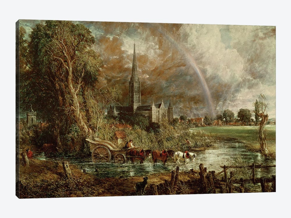 Salisbury Cathedral From the Meadows, 1831   by John Constable 1-piece Art Print