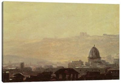 Houses Dominated by a Dome, Rome  Canvas Art Print