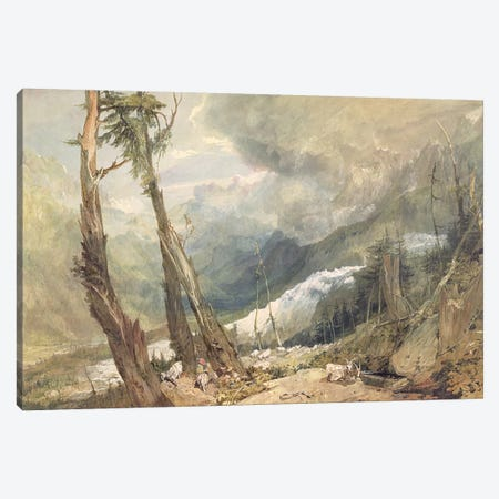 Mere de Glace, in the Valley of Chamouni, Switzerland, 1803  Canvas Print #BMN1906} by J.M.W. Turner Canvas Art