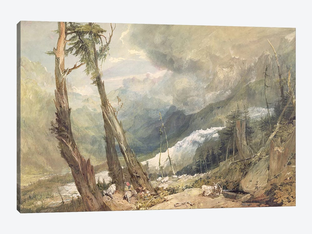 Mere de Glace, in the Valley of Chamouni, Switzerland, 1803  by J.M.W. Turner 1-piece Art Print