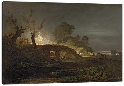 A Lime Kiln at Coalbrookdale, c.1797  Canvas Art Print