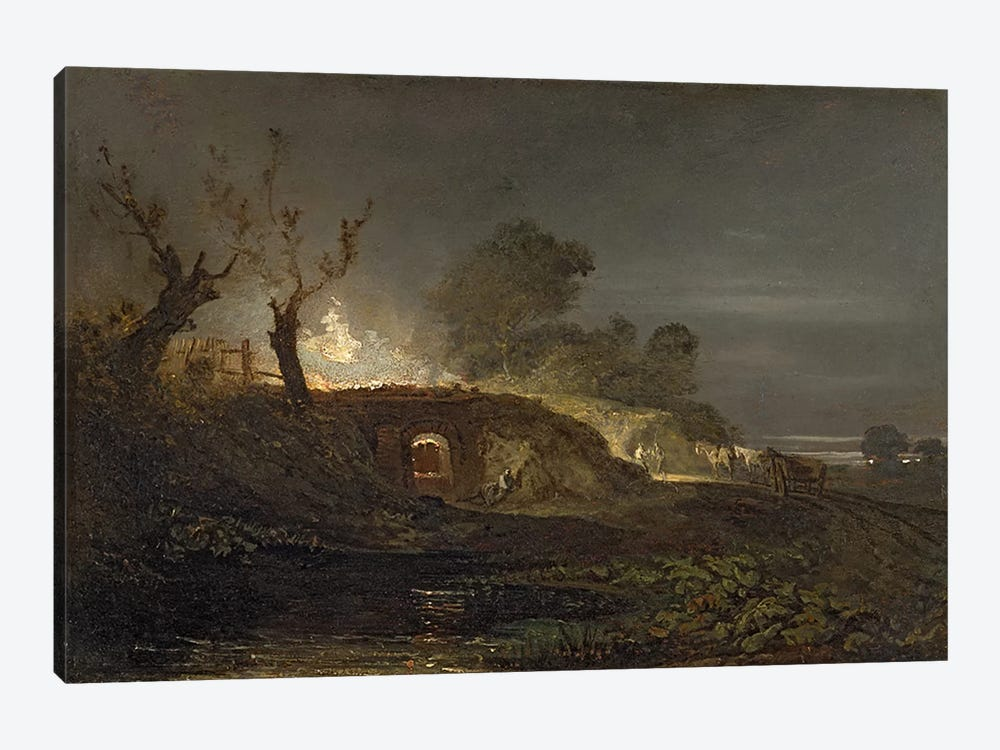 A Lime Kiln at Coalbrookdale, c.1797 by J.M.W Turner 1-piece Canvas Art