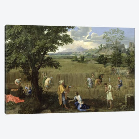Summer, or Ruth and Boaz, 1660-64  Canvas Print #BMN1909} by Nicolas Poussin Canvas Art Print