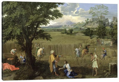 Summer, or Ruth and Boaz, 1660-64  Canvas Art Print