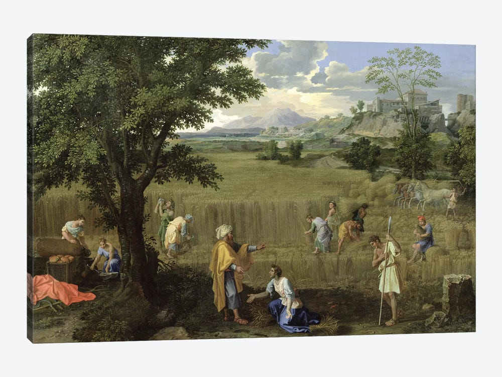 Summer, or Ruth and Boaz, 1660-64  by Nicolas Poussin 1-piece Canvas Art