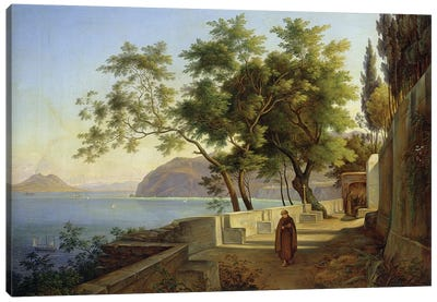The Terrace of the Capucins in Sorrento, 1828  Canvas Art Print