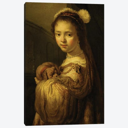 Picture of a Young Girl  Canvas Print #BMN1911} by Govaert Flinck Canvas Art