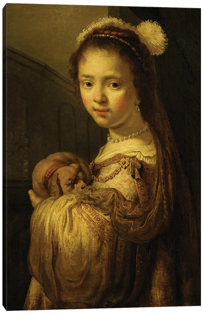 Picture of a Young Girl  Canvas Art Print