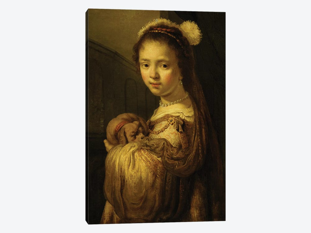 Picture of a Young Girl  by Govaert Flinck 1-piece Canvas Print