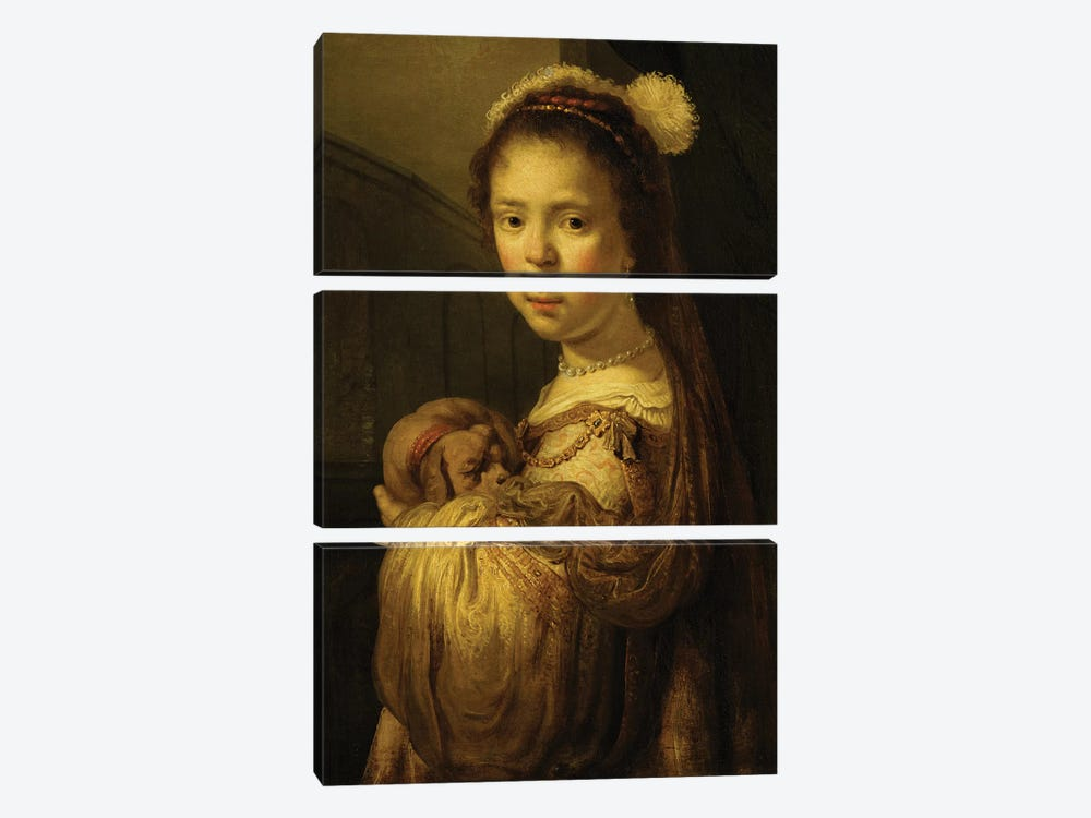 Picture of a Young Girl  by Govaert Flinck 3-piece Canvas Art Print
