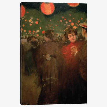 The Open-Air Party, c.1901-02  Canvas Print #BMN1912} by Ramon Casas i Carbo Canvas Artwork
