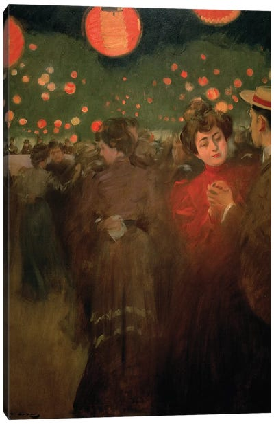 The Open-Air Party, c.1901-02  Canvas Art Print