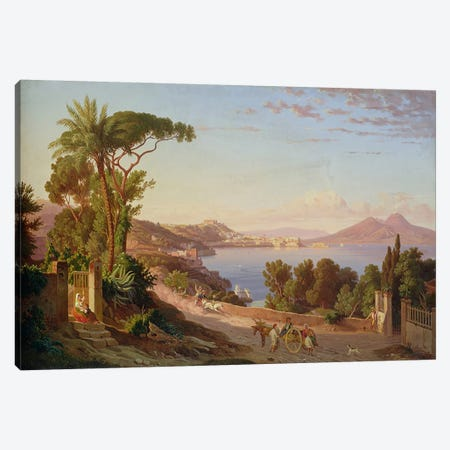 View of Naples  Canvas Print #BMN1913} by Carl Wilhelm Goetzloff Canvas Art