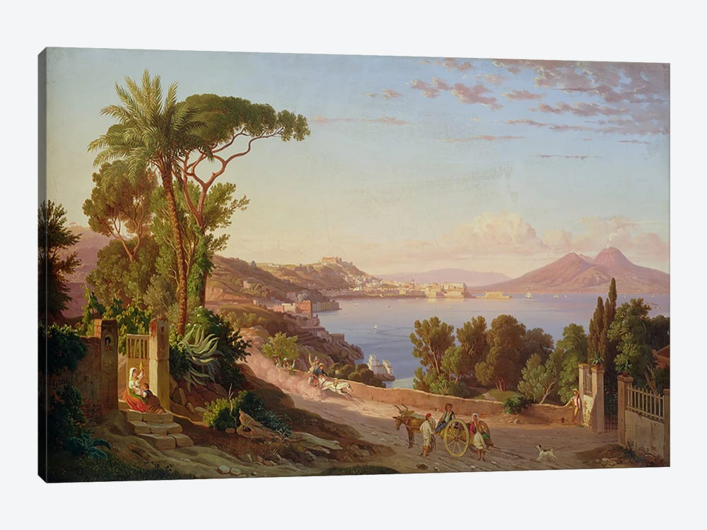 View of Naples  by Carl Wilhelm Goetzloff 1-piece Canvas Print