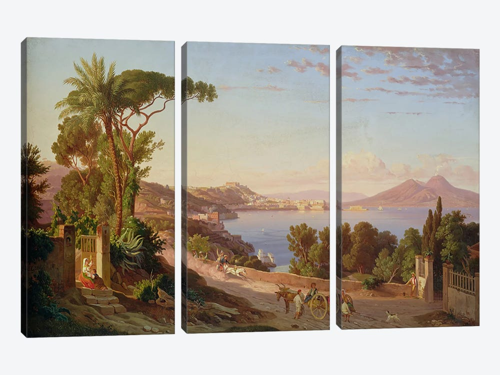 View of Naples  by Carl Wilhelm Goetzloff 3-piece Art Print