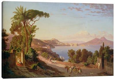 View of Naples  Canvas Art Print