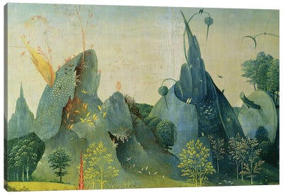 The Garden of Eden, detail from the right panel of The Garden of Earthly Delights, c.1500   Canvas Art Print