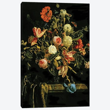 Flower Still Life, 1706  Canvas Print #BMN1917} by Jan van Huysum Canvas Print