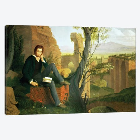Percy Bysshe Shelley  Canvas Print #BMN1919} by Joseph Severn Canvas Wall Art