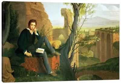 Percy Bysshe Shelley  Canvas Art Print