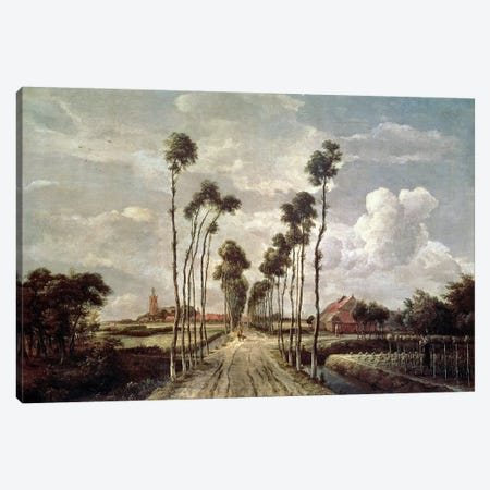 The Avenue at Middelharnis, 1689  Canvas Print #BMN191} by Meindert Hobbema Canvas Art