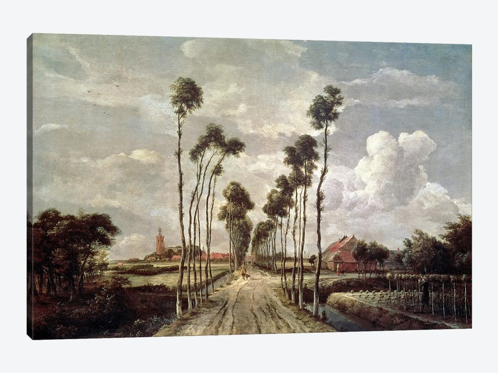 The Avenue at Middelharnis, 1689  by Meindert Hobbema 1-piece Canvas Art